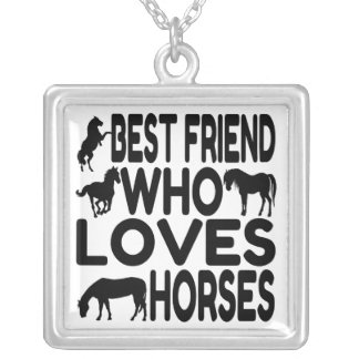 Horse Lover Best Friend Silver Plated Necklace