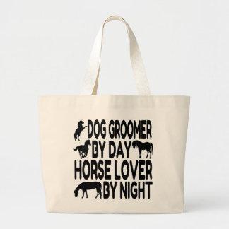 Horse Lover Dog Groomer Large Tote Bag