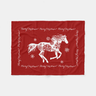 Horse Lover Equestrian Pony Fleece Blanket