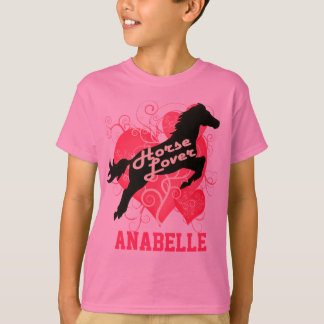 Horse Lover Personalized Anabelle T Shirts