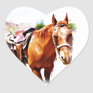 Horse Lover_ Heart Stickers