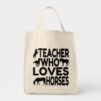 Horse Lover Teacher Grocery Tote Bag
