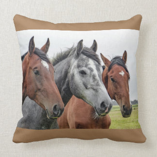 "Horse Lover Throw Pillow 20"" x 20"""
