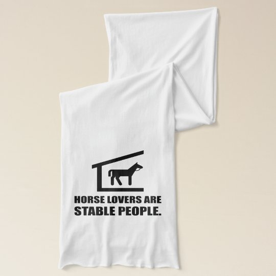 Horse Lovers Are Stable People American Apparel Sheer Scarf