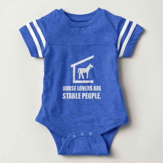 Horse Lovers Are Stable People Baby Bodysuit