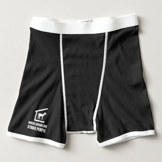 Horse Lovers Are Stable People Boxer Briefs