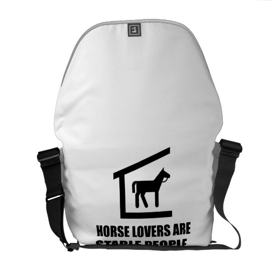 Horse Lovers Are Stable People Commuter Bag