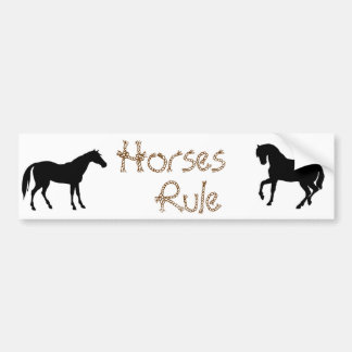 Horse Lovers Bumper Sticker