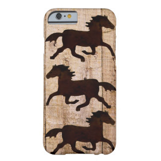 Horse Lovers Cowboy Rustic Wood iPhone 6 case