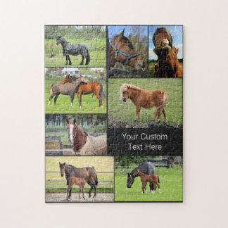 Horse Lover's custom photo puzzle