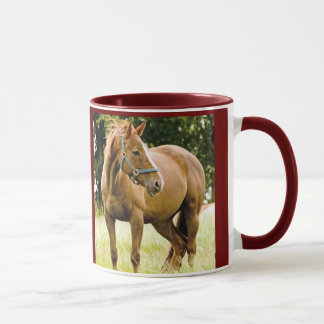 Horse ( mare) in the field mug