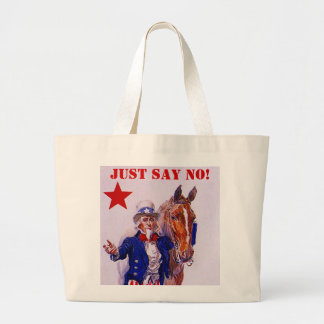 Horse Meat Slaughter Just Say No Campaign UncleSam Large Tote Bag