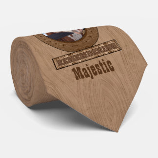 Horse Memorial Horseshoe Barn Wood Photo Tie