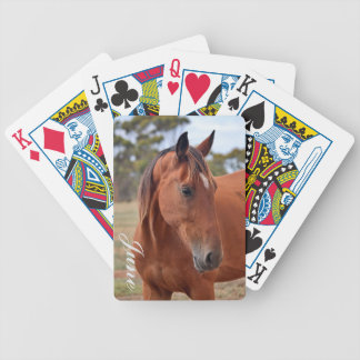 Horse Monogram Bicycle Playing Cards