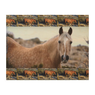 Horse MUSTANG from American Wild Wood Print