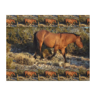 Horse MUSTANG from American Wild Wood Prints