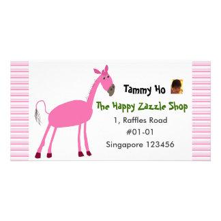 Horse Namecard Customized Photo Card