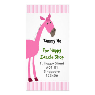 Horse Namecard (Vertical) Photo Greeting Card