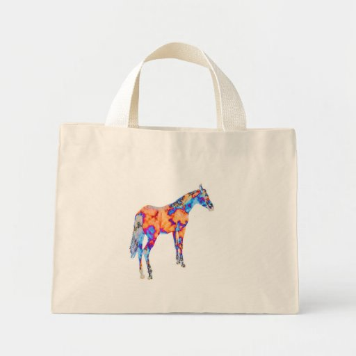 Horse of a Different Color Canvas Bag