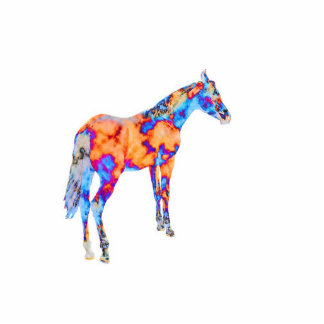 Horse of a Different Color Standing Photo Sculpture