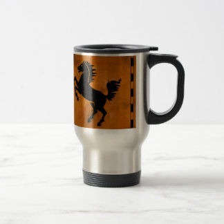 Horse on Terra Cotta Travel Mug