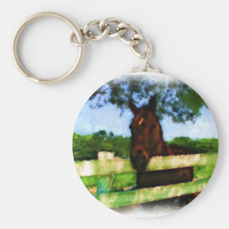 Horse Over Fence Key Ring