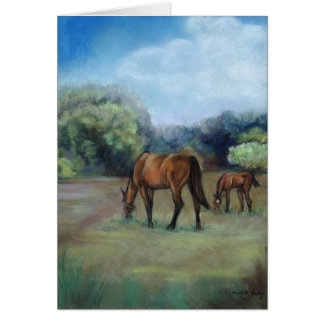 """Horse Pasture"" Art Note Card"