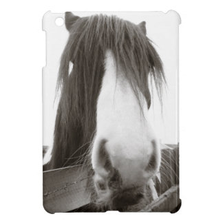 Horse Peering Over Fence iPad Mini Covers