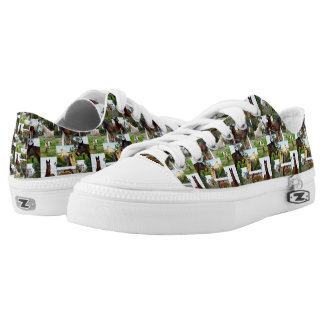 Horse Photo Collage, Zips Unisex Printed Sneakers