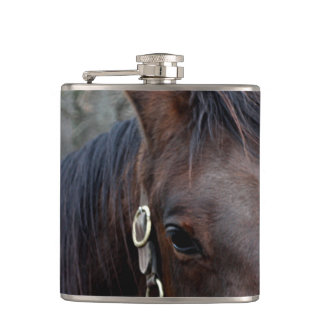 Horse photo hip flask
