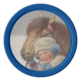 Horse Poker Chip Childhood Memory Pet Bay Pony Poker Chips Set