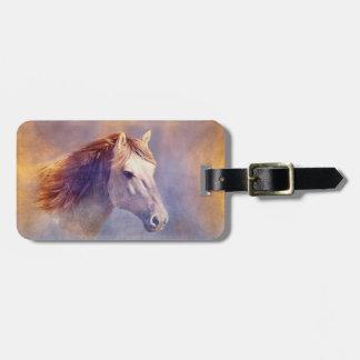 Horse portrait luggage tag