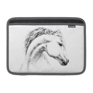 Horse portrait pencil drawing Macbook Air sleeve