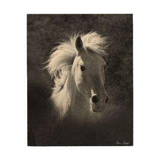 Horse Portrait V Wood Wall Art