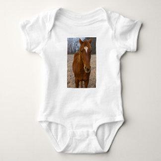 Horse pose baby bodysuit