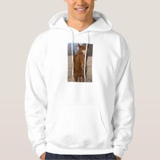 Horse pose hoodie