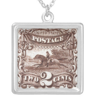 Horse Postage Stamp Necklace