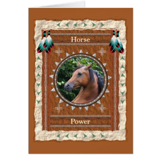 Horse  -Power- Custom Greeting Card