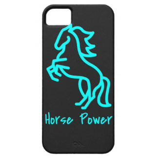 Horse Power in Blue Case For The iPhone 5