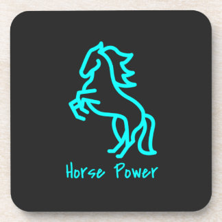 Horse Power in Blue Coaster