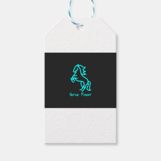Horse Power in Blue Gift Tags