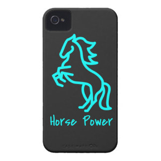 Horse Power in Blue iPhone 4 Case-Mate Cases