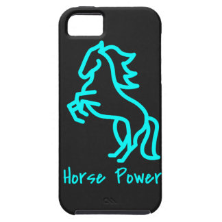 Horse Power in Blue iPhone 5 Case