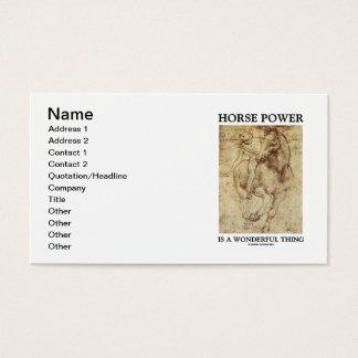 Horse Power Is A Wonderful Thing (da Vinci Horse) Business Card