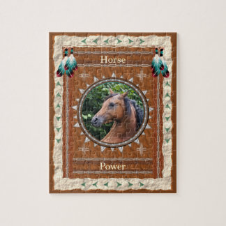 Horse  -Power- Jigsaw Puzzle w/ Gift Box