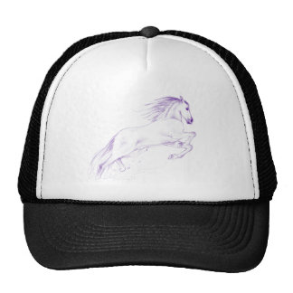 horse purple cap