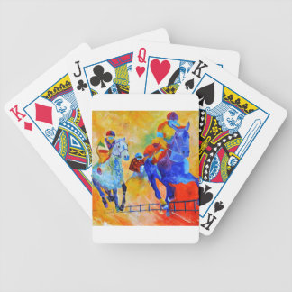 Horse race bicycle playing cards