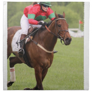 Horse Race Set of Four Napkins