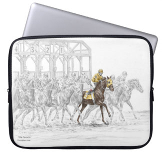 Horse Race Starting Gate Laptop Sleeve