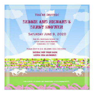 Horse Racetrack Jack & Jill Shower Party - Card
